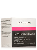 Dead Sea Mud Mask with Hyaluronic Acid, Colloidal Oatmeal, Aloe Vera, Avocado Oil - 8 fl. oz (236 ml