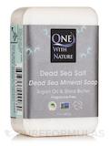 Dead Sea Salt - Triple Milled Mineral Soap Bar with Argan Oil & Shea Butter - 7 oz (200 Grams)