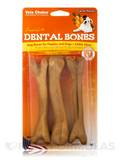 Dental Bones for Puppies and Dogs, Carrot Flavor - 3 Large Pieces (4 oz / 113 Grams)