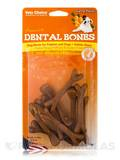 Dental Bones for Puppies and Dogs, Carrot Flavor - 9 Mini Pieces (4 oz / 113 Grams)