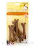 Dental Bones for Puppies and Dogs, Cheese Flavor - 6 Small Pieces (4 oz / 113 Grams)