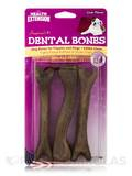Dental Bones for Puppies and Dogs, Liver Flavor - 3 Large Pieces (4 oz / 113 Grams)