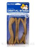 Dental Bones for Puppies and Dogs, Peanut Butter Flavor - 3 Large Pieces (4 oz / 113 Grams)