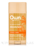 Deodorant, Citrus + Sage - 2.7 oz (75 Grams)