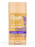 Deodorant, Lavender + Vanilla - 2.7 oz (75 Grams)