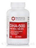 DHA-500 (500 DHA / 250 EPA) - 120 Softgels