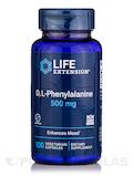 D,L-Phenylalanine 500 mg - 100 Vegetarian Capsules
