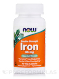 Double Strength Iron 36 mg - 90 Vegetarian Capsules