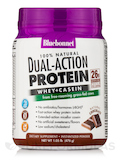 Dual Action Protein Powder - Whey + Casein, Chocolate Flavor - 1.05 lb (476 Grams)
