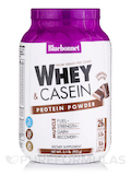 Dual Action Protein Powder - Whey + Casein, Chocolate Flavor - 2.1 lb (952 Grams)