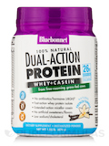Dual Action Protein Powder - Whey + Casein, French Vanilla Flavor - 1.05 lb (476 Grams)