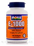E-1000 (d-alpha Tocopheryl) 100 Softgels
