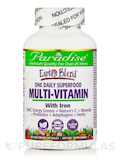 Earth's Blend® One Daily Superfood Multi-Vitamin (with Iron) - 120 Vegetarian Capsules