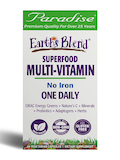 Earth's Blend® One Daily Superfood Multi-Vitamin (No Iron) - 60 Vegetarian Capsules