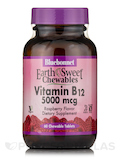 EarthSweet® Chewables Vitamin B12 5000 mcg, Raspberry Flavor - 60 Chewable Tablets
