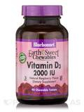 EarthSweet® Vitamin D3 2000 IU, Raspberry Flavor - 90 Chewable Tablets