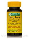 Easy Iron 28 mg (Iron Glycinate) 90 Capsules