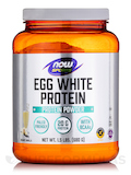 NOW® Sports - Eggwhite Protein Vanilla Creme - 1.5 lbs (680 Grams)