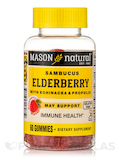 Elderberry with Echinacea & Propolis, Raspberry Flavor - 60 Gummies