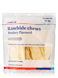 Pet Hygienics Enzy-Chews, Poultry Flavored Rawhide Chews for Dogs Over 51 lbs - 15 Chews
