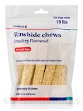 Dental Rawhide Enzymatic Chews, Poultry Flavored for Small Dogs under 10 lbs (Formerly Enzy-Chews) -