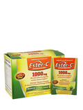 Ester-C® 1000 mg Effervescent Lemon Lime Powder - 1 Box of 21 Single Serving Packets
