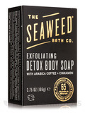 Exfoliating Detox Body Soap Bar, Arabica Coffee + Cinnamon - 3.75 oz (106 Grams)