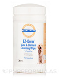 EZ-Derm™ Aloe & Oatmeal Cleansing Wipes for Dogs & Cats, Piña Colada - 70 Wipes (5'' x 6'')
