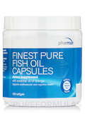 Finest Pure Fish Oil Capsules, Orange Flavor - 180 Softgel