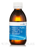 Finest Pure Fish Oil Ultra + D Liquid, Natural Orange Flavor - 6.8 fl. oz (200 ml)