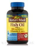 Fish Oil 1200 mg Omega-3 360 mg + Vitamin D - 90 Softgels