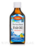 The Very Finest Fish Oil 1600 mg, Natural Lemon Flavor - 6.7 fl. oz (200 ml)