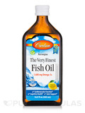 The Very Finest Fish Oil 1600 mg, Natural Lemon Flavor - 16.9 fl. oz (500 ml)