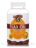 Flax Oil Gummies, Natural Orange Flavor - Sugar Free - 90 Count