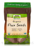 NOW Real Food® - Organic Flax Seeds - 16 oz (454 Grams)