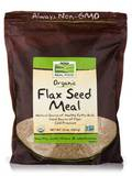 NOW® Real Food - Organic Flax Seed Meal - 22 oz (624 Grams)