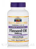 Flaxseed Oil 1000 mg 120 Softgels