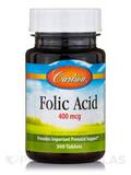 Folic Acid 400 mcg - 300 Tablets
