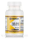 Folic Acid with B-12 -Hypoallergenic 200 Capsules