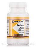 Folinic Acid 400 mcg -Hypoallergenic 180 Capsules