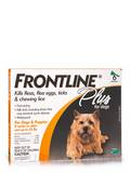 Frontline® Plus for Dogs and Puppies (8 weeks or older and up to 22 lbs) - 6 Applicators