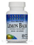 Full Spectrum Lemon Balm 500 mg - 60 Capsules