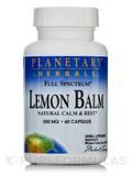 Full Spectrum Lemon Balm 500 mg - 60 Capsules