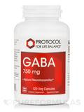 GABA 750 mg - 120 Vegetable Capsules