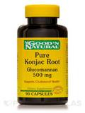 Pure Konjac Root Glucomannan 500 mg - 90 Capsules