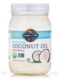 Living Foods Organic Extra Virgin Coconut Oil 16 fl. oz (473 ml)
