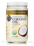 Living Foods Organic Extra Virgin Coconut Oil 32 fl. oz (946 ml)
