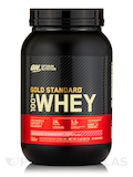 Gold Standard 100% Whey, Delicious Strawberry Flavor - 2 lb. (907 Grams)