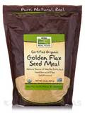 NOW Real Food® - Organic Golden Flax Seed Meal - 22 oz (624 Grams)