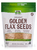 NOW Real Food® - Organic Golden Flax Seeds - 2 lbs (907 Grams)